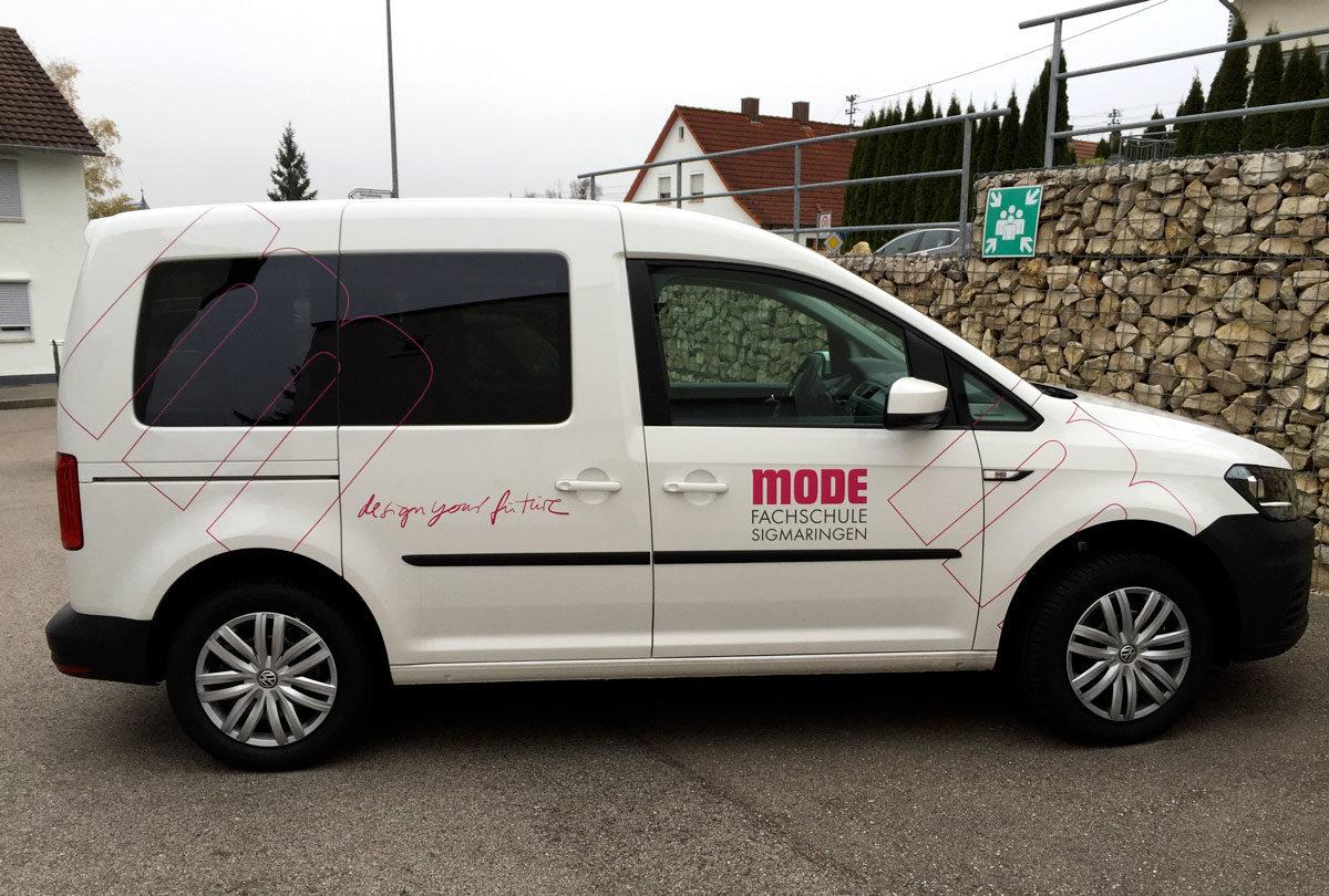 VW-Caddy Fahrzeugbeschriftung